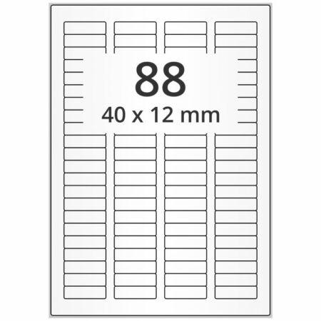 ManagetiQ Q2616MC polyester etikett matt. áttetsző, 40x12 mm